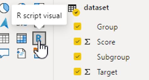 create R visual with Power BI